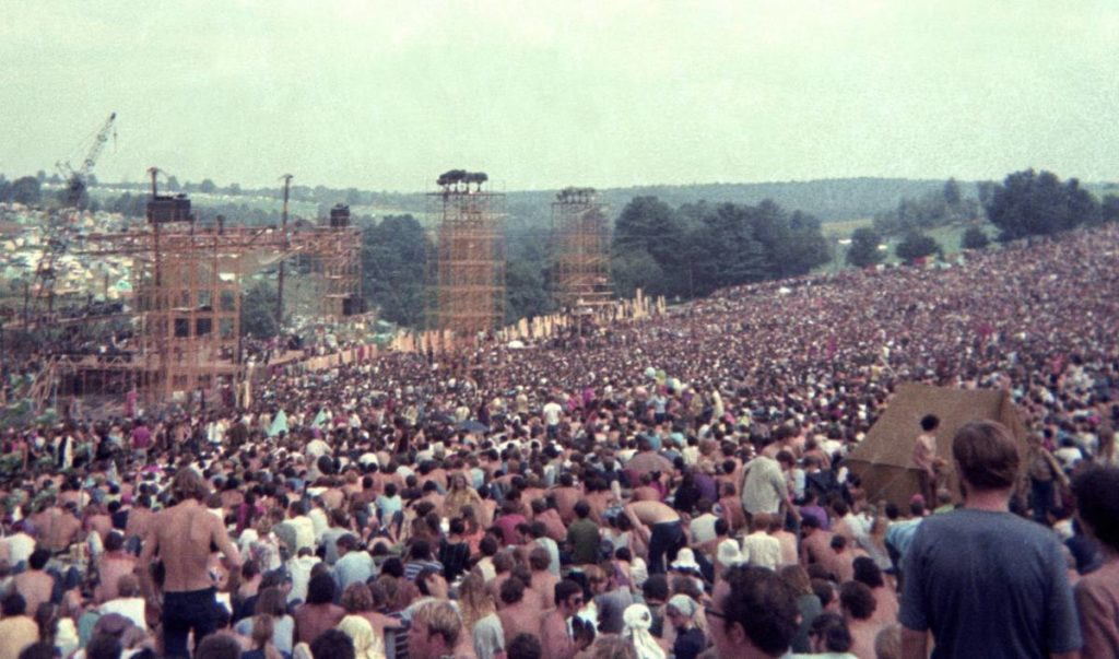 The crowd on Day 1 of the Woodstock Festival on August 15, 1969. Clayton Call/Redferns